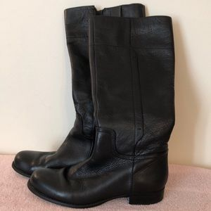Nine west black size 8 1/2 knee-high leather boots